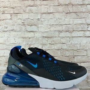 Nike Air Max 270 Men Running Shoes Blue Fury Black